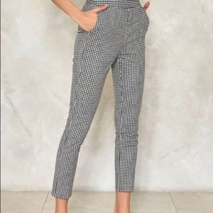 Gingham Trousers from Nasty Gal/Lucy Wang